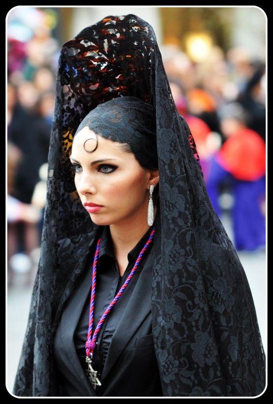 Peineta  hat  spain veil mantilla black