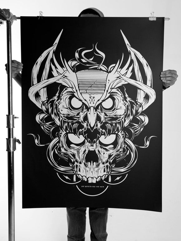 daily inspiration 1315 silk screen printing behance and screens. Black Bedroom Furniture Sets. Home Design Ideas