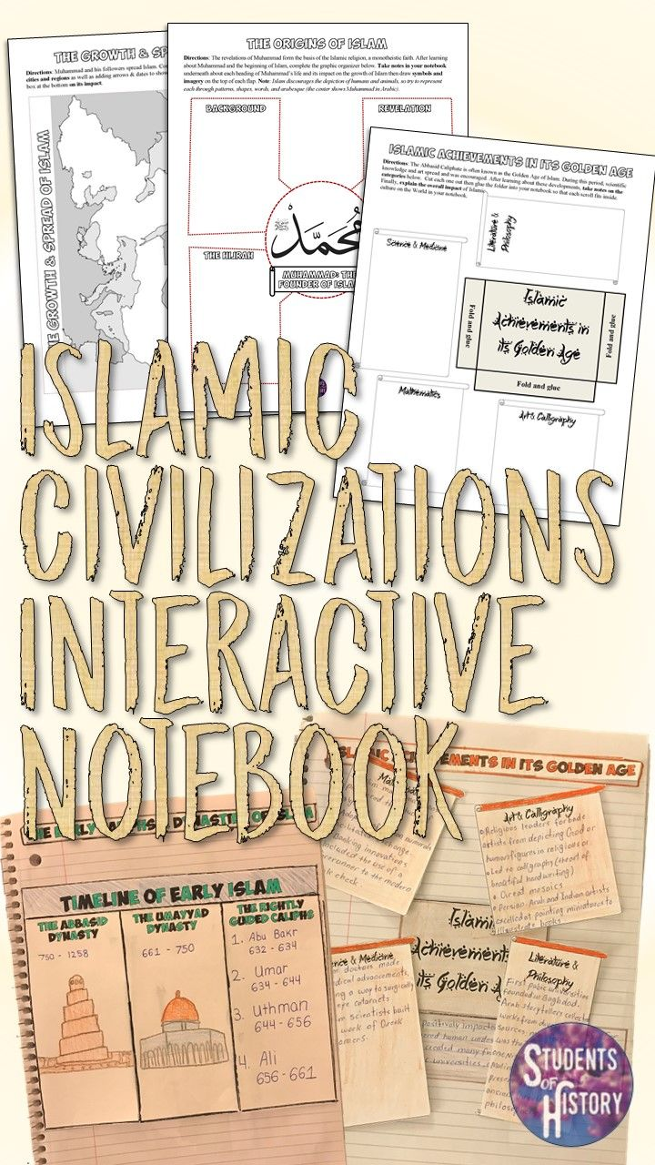 Engaging set of interactive notebook activities for Islam and Islamic Civilizations for World History!