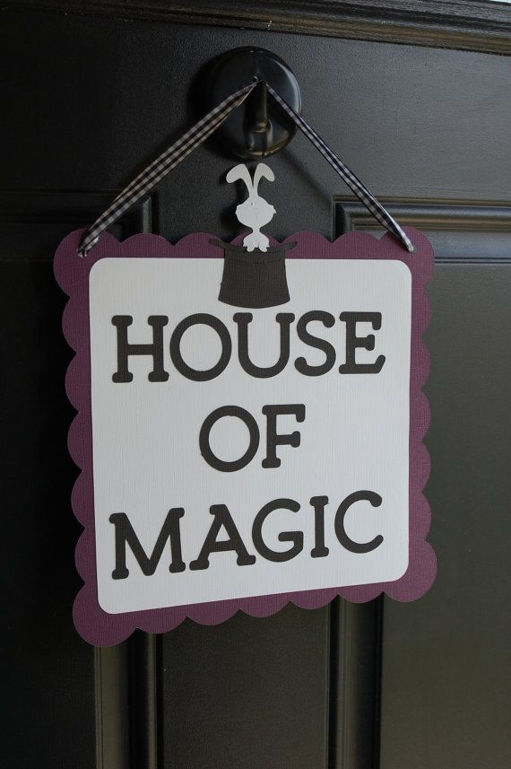 Magic Door Sign Magic Party Supplies Magic Welcome by GiggleBees