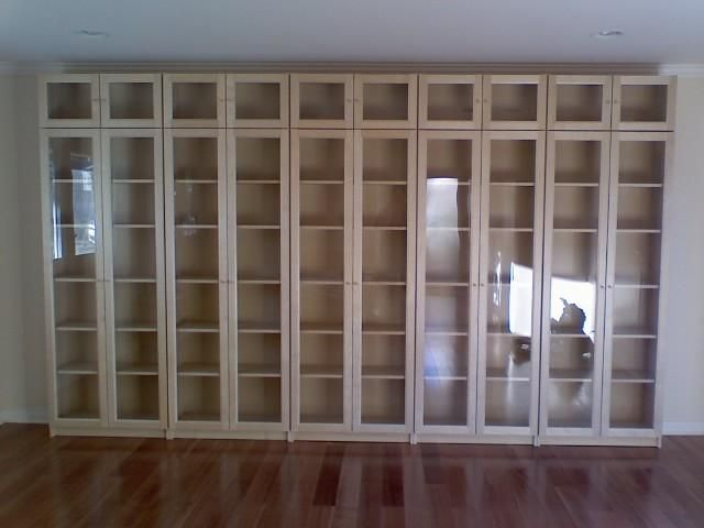 Ikea glass door billy bookcase my future woman cave for Glass bookcase ikea