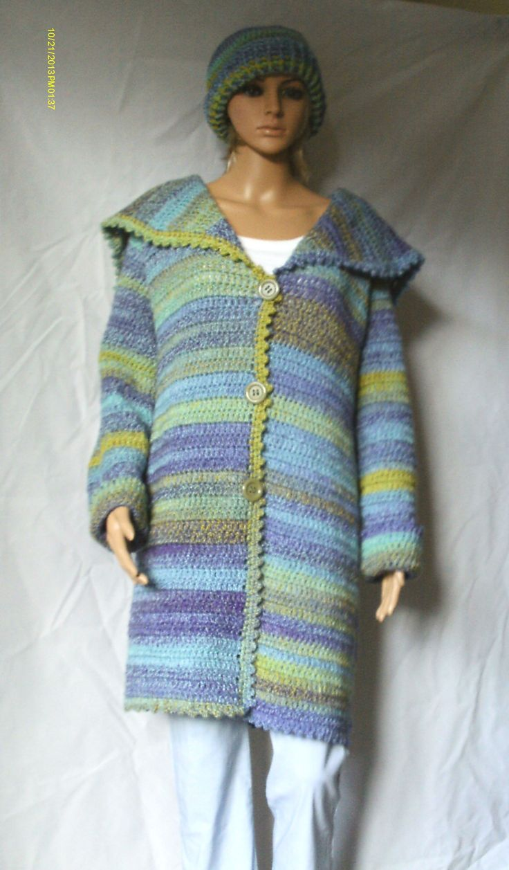 Shaded Blanket Coat Pattern From Simple Stylish Crochet By Melody Griffiths Https Www Etsy