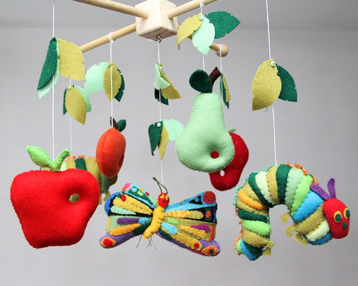 Baby Mobile- Nursery Caterpillar- Butterfly Mobile-Inspired by the Very Hungry Caterpillar- Baby Mobile by LesPetitesshop on Etsy https://www.etsy.com/listing/236461061/baby-mobile-nursery-caterpillar