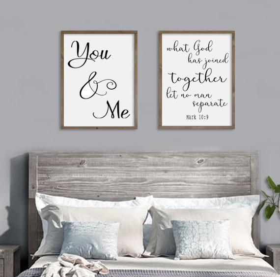 Scripture Wedding Gift You Me Signs Bedroom Wall Decor