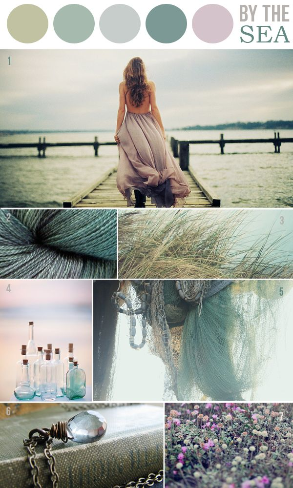 Beach Wedding Colour Palette - ocean tones wedding color palette inspiration