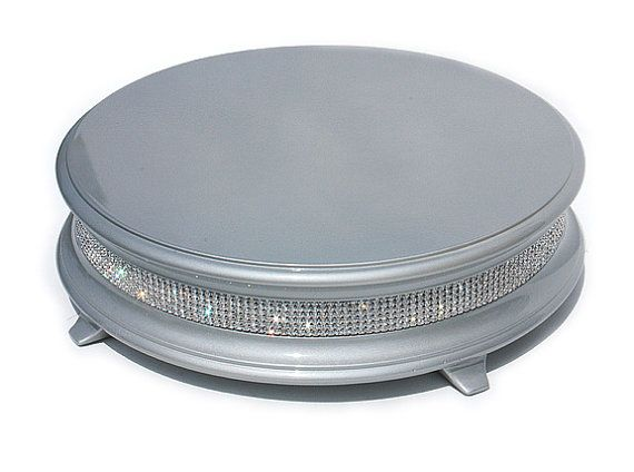14 inch Silver Diamond Cake Stand by WeddingFads on Etsy, $119.95
