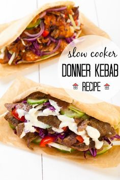 Whip up your own delicious take away, easily, with this slow cooker donner kebab recipe. Just as delicious and a fraction of the cost!