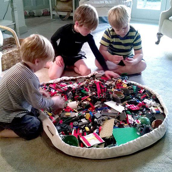 BritBag quality LEGO BRIO toy storage bag playmat by BritBagUK