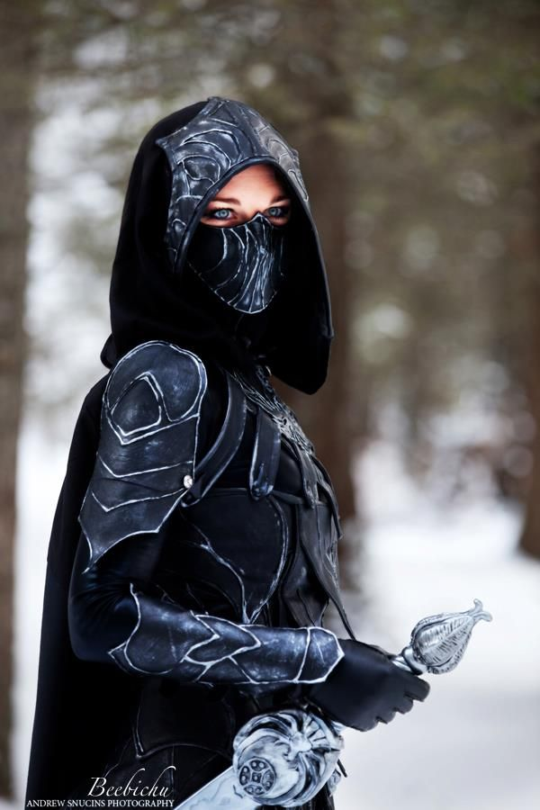 .Skyrim, The Face, Armors, Outfit, Warriors Women, Cosplay Costumes, Face Masks, Sword, Armours