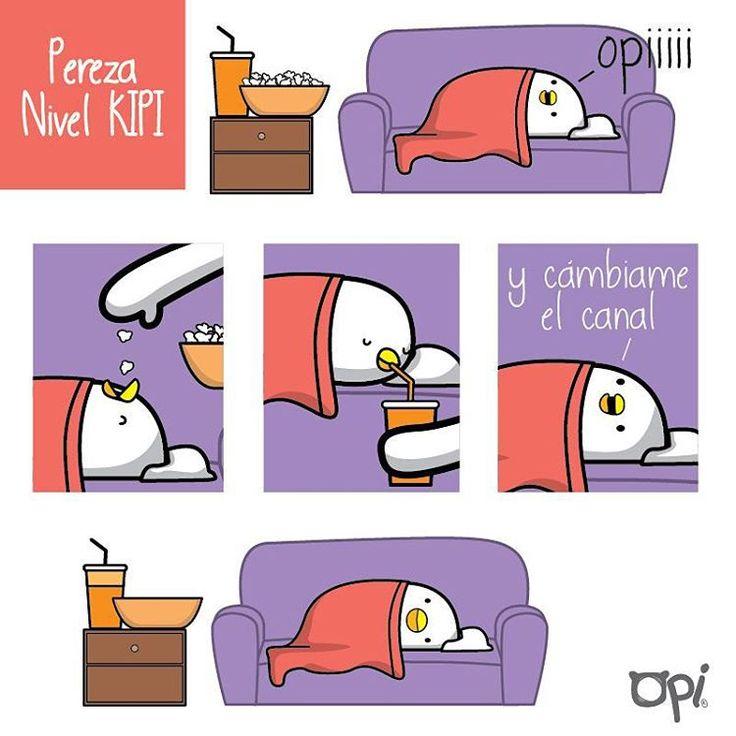 Pereza nivel #kipi #opi #cute #kawaii #mostropi #ilustración #pereza