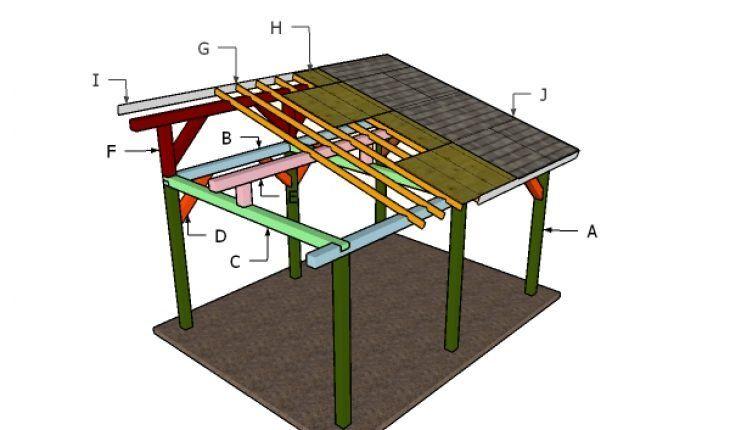 12×16 Lean to Pavilion Roof - Free PDF Download ...