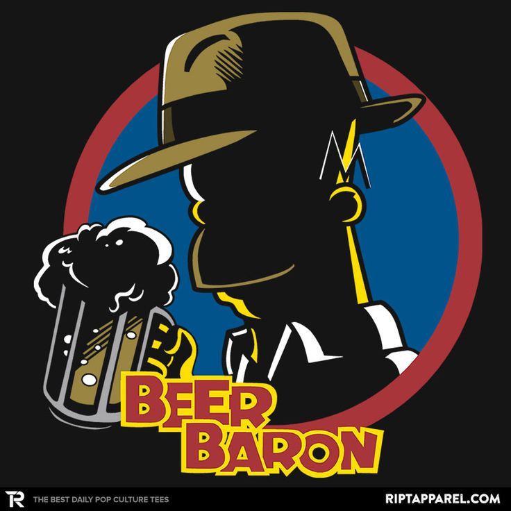 Beer Baron T-Shirt - Homer Simpson T-Shirt is $11 today at Ript!
