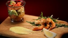 Luke and Scott: Zesty Prawn Salad MKR