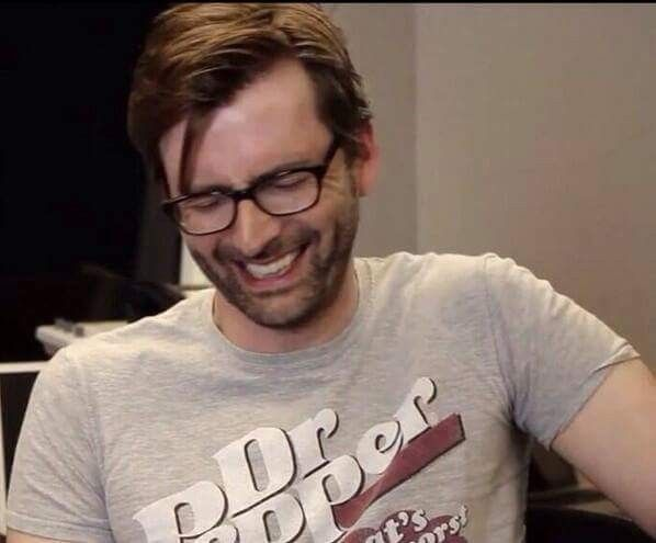Love Tennant in the Dr. Pepper shirt❤