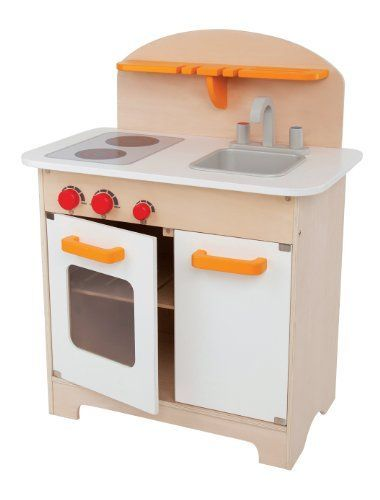 Hape - Playfully Delicious - Gourmet Kitchen Wooden Play Set, White -- Find out more about the great product at the image link.