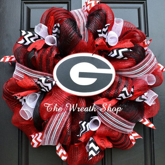 University of Georgia Mesh Wreath  Georgia by CreationsbySaraJane, $85.00