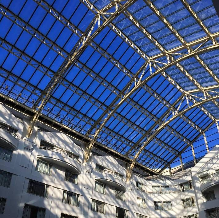 Grand Hyatt Washington DC brings the outdoors in. Admire the best views of bright blue skies from the extraordinary 12-story atrium lobby.