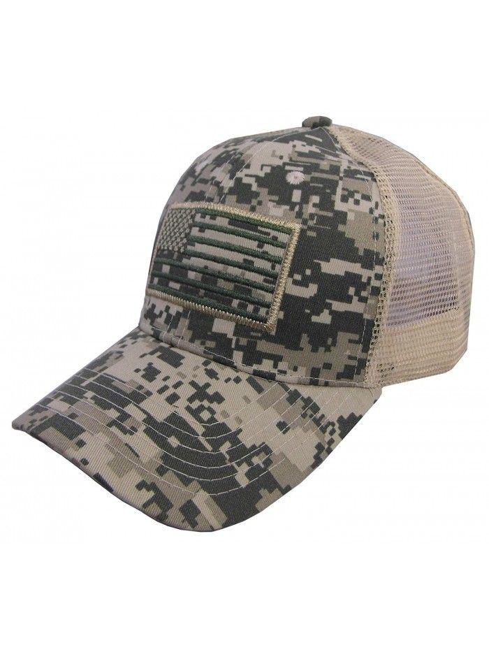 US American Flag Patch Tactical Style Mesh Trucker Baseball Cap Hat ... 80a1d4b43757