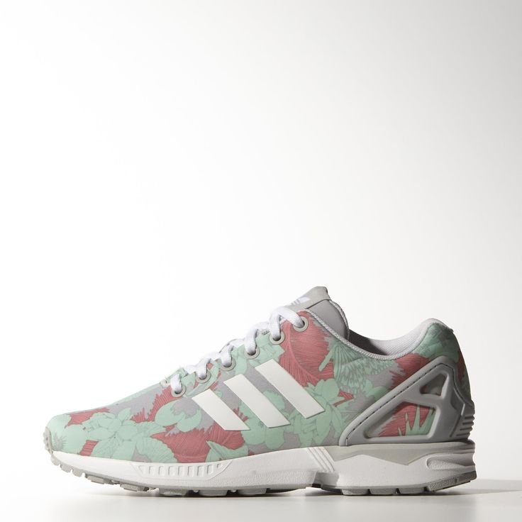 Sales Prices Mens Casual Shoes - Adidas Zx Flux Floral Print Pink/Pink/Black