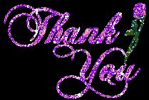 beautiful thank you glitter graphics | http://www.desiglitters.com/thank-you/blooming-thank-you-graphic/