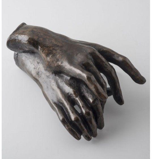 Mains enlacées par Auguste Rodin. Reproduction de sculpture officielle du musée Rodin.