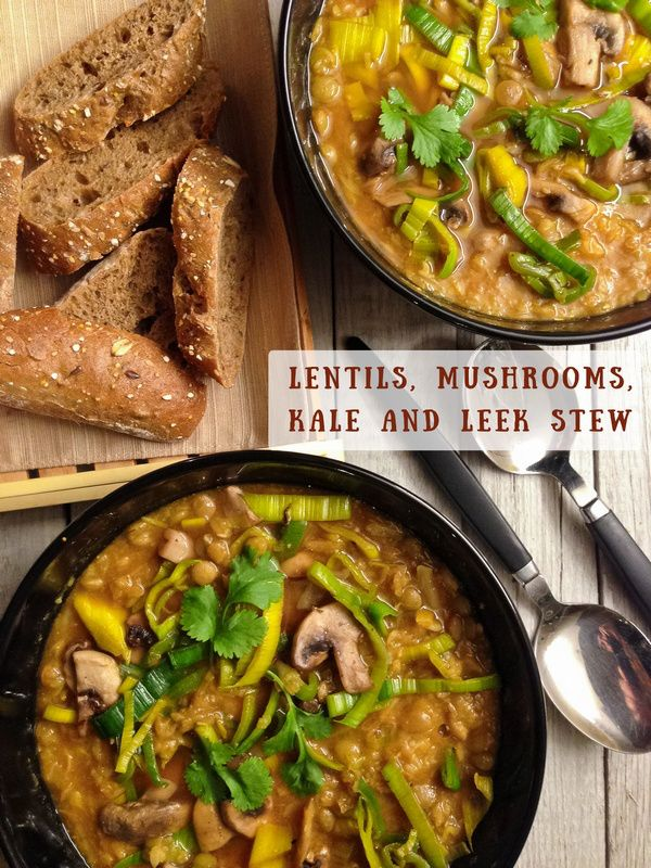 lentils and mushrooms soup