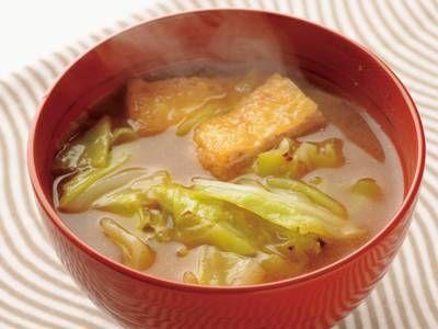キャベツと油揚げのみそ汁レシピ 講師は土井 善晴さん|使える料理レシピ集 みんなのきょうの料理 NHKエデュケーショナル