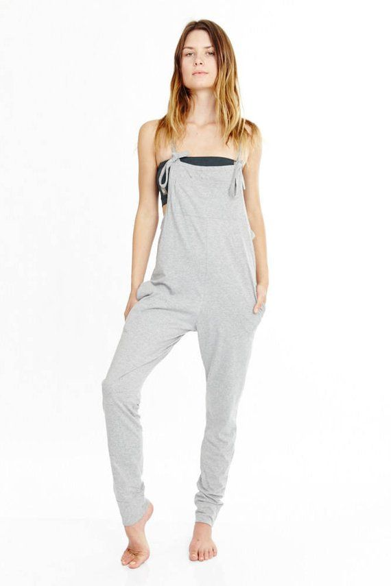 9556a99a0348 Jumpsuit - Womens Jumpsuit - Yoga Jumpsuit Overalls - Jersey Cotton Yoga  Pants Yoga Clothes Overalls