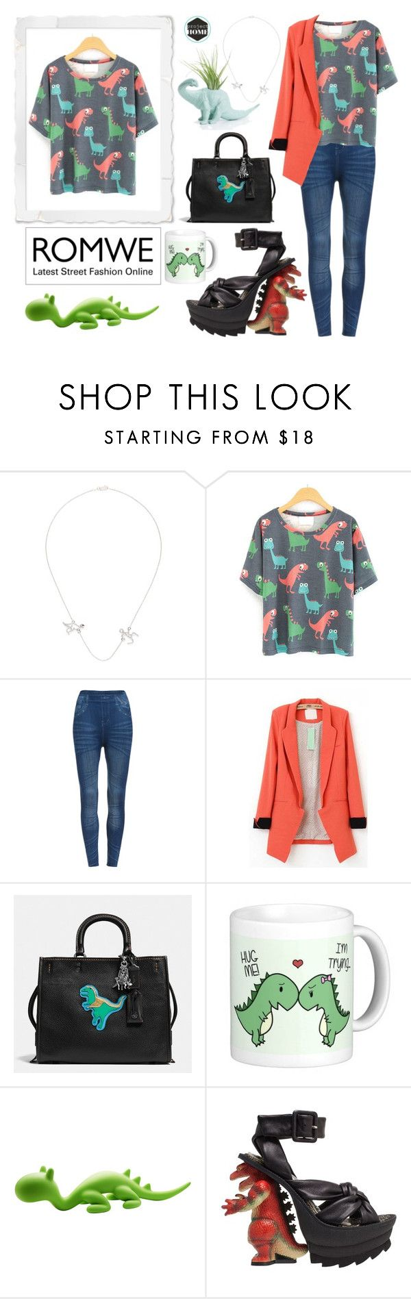 """Untitled #301"" by riell-projecthome ❤ liked on Polyvore featuring Khai Khai, Studio Eero Aarnio, romwe and dinosaur"
