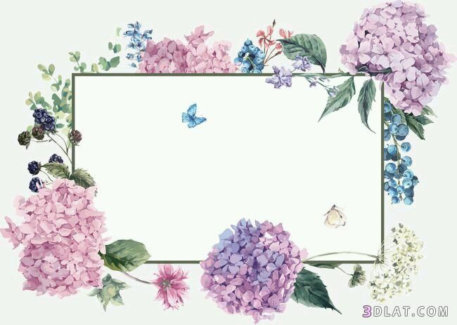 اطارات ورود فارغه للتصميم اجدد الاطارات والبراويز للكتابه عليها2019 Flower Frame Spring Background Flower Backgrounds