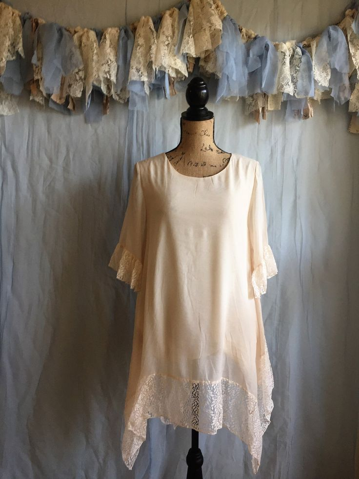 Lace Hem Tunic