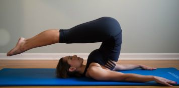 The Pilates Roll-Over...my favorite runner's stretch.  Good for the hamstrings.