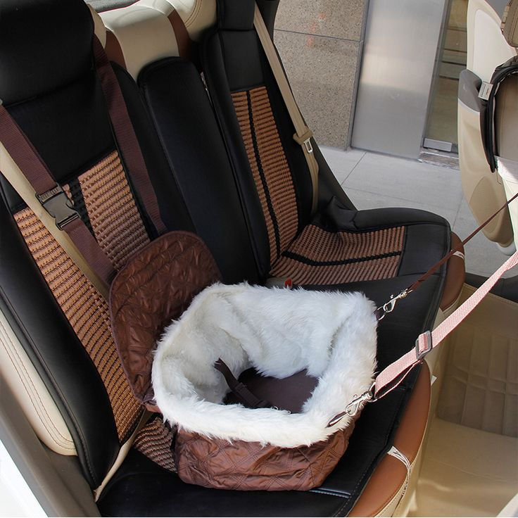 Pawz Road NewPet Dog Cat Travel Bed Puppy Car Booster Seat Bag Carrier Tote Foldable Dog Seat Travel Accessories Cat Carrier