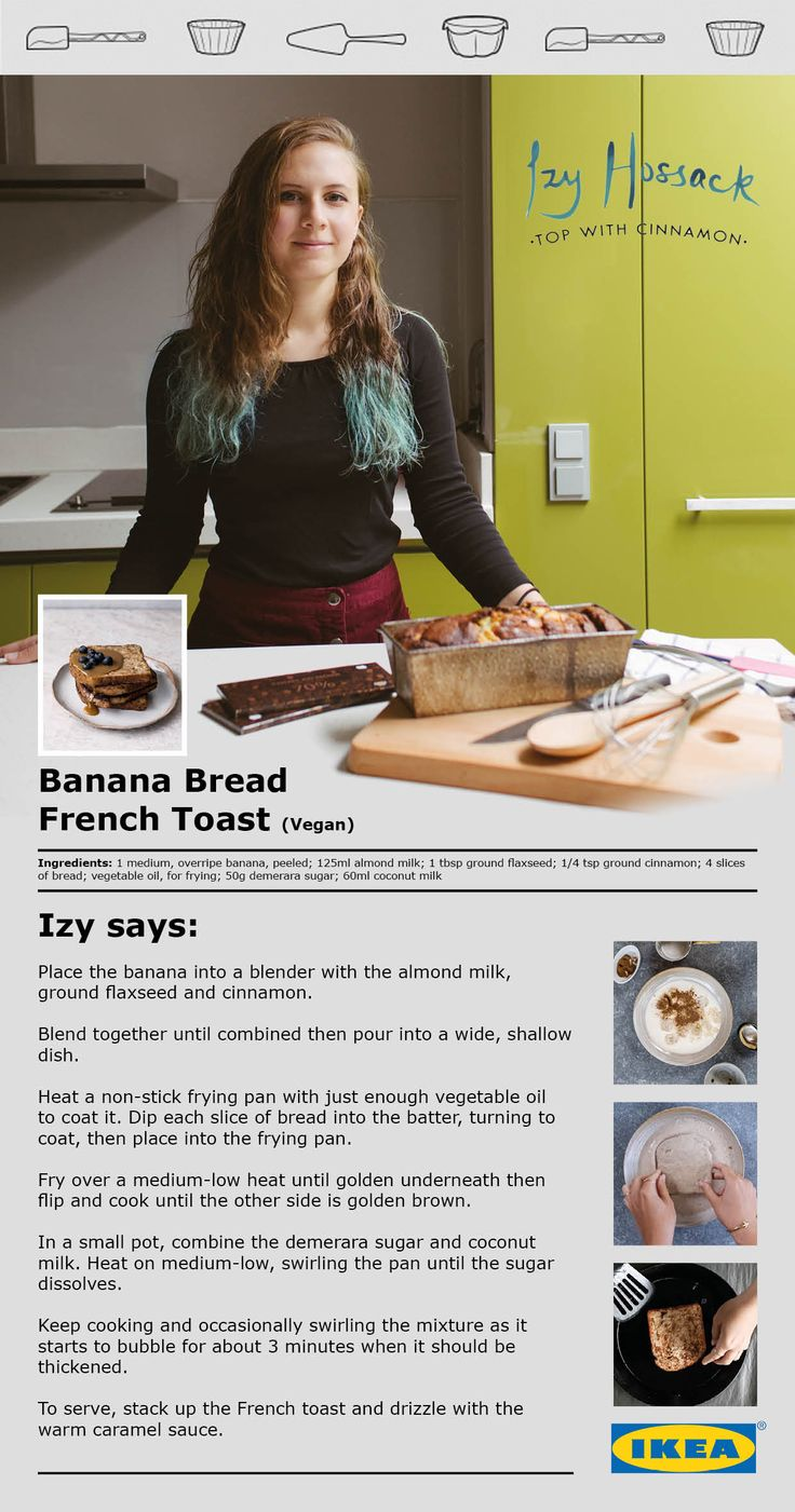 Try the delicious Banana Bread French Toast recipe from Top With Cinnamon.