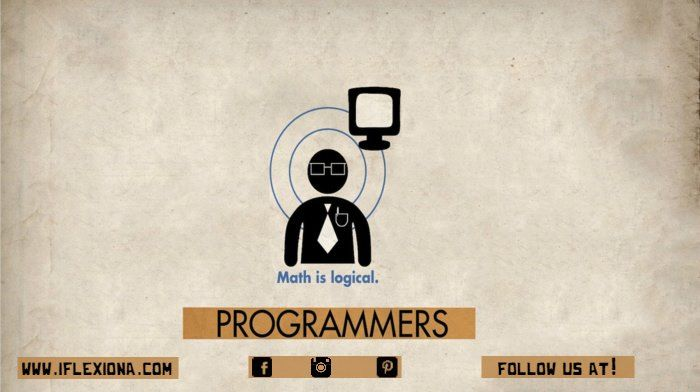 """Programmers work in many settings, including corporate information technology (""""IT"""") departments, big software companies, small service firms and government entities of all sizes. Many professional programmers also work for consulting companies at client sites as contractors.  Follow us on Pinterest: www.pinterest.com/iflexiona  #math #logic #brain #insights #devlopment"""