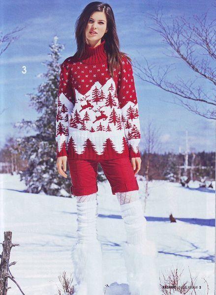 Зимние свитера из журналов