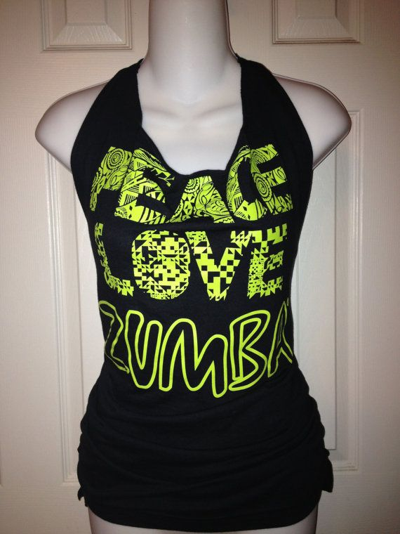 zumba fitness peace love zumba t shirt in black converted. Black Bedroom Furniture Sets. Home Design Ideas