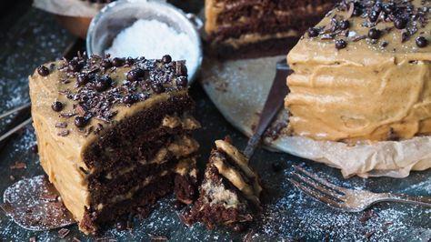 Sjokoladekake med kaffe- og karamellfrosting av Ida Gran-Jansen