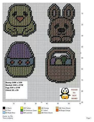153 best images about easter plastic canvas on pinterest
