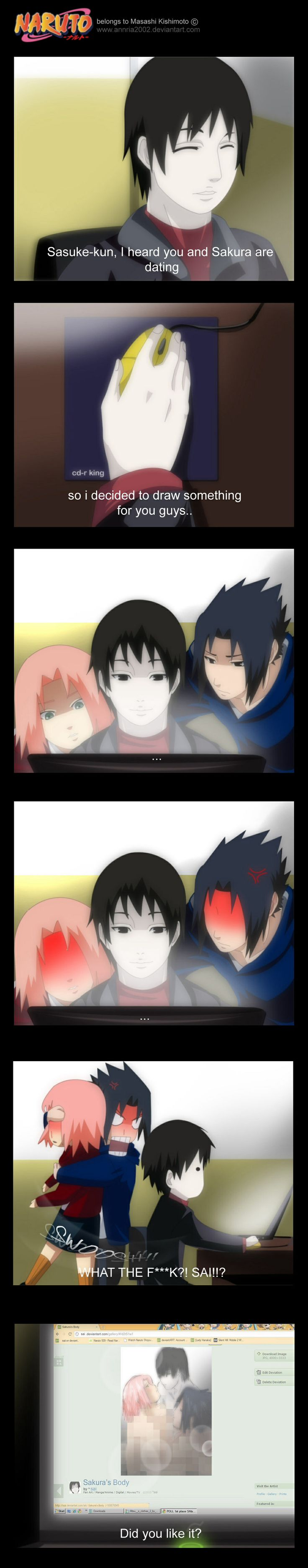 Seriously Sai, WTF?! And why are you in the picture too?!