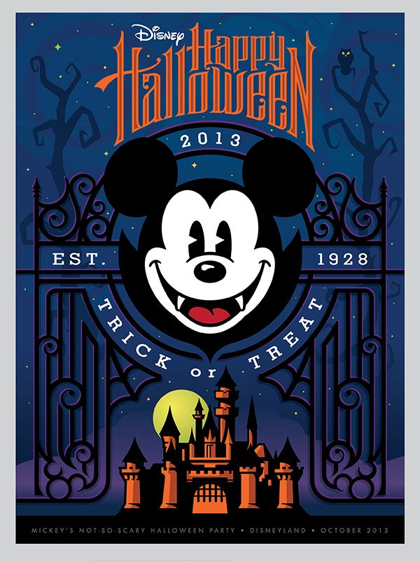 Disney Halloween Posters by Torch Creative , via Behance