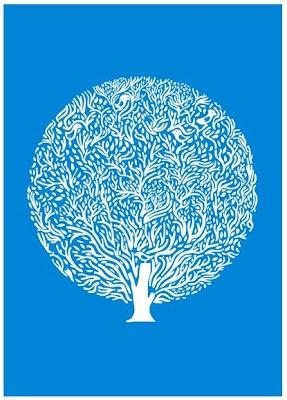 @judykaufman Blue Tree via rikrakstudio