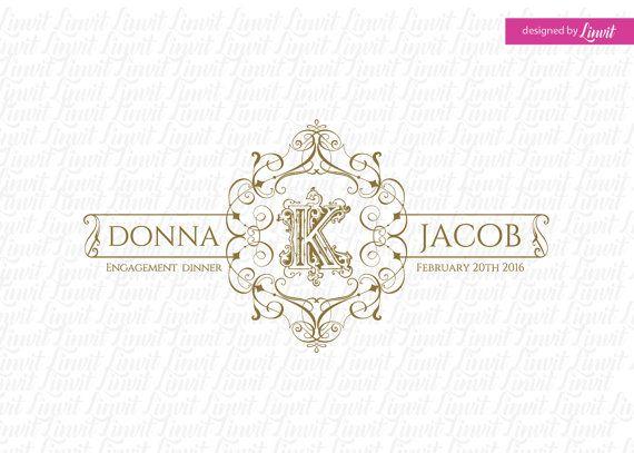 luxury wedding monogram-wedding crest-custom wedding by Linvit