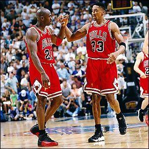 Michael Jordan and Scottie Pipen