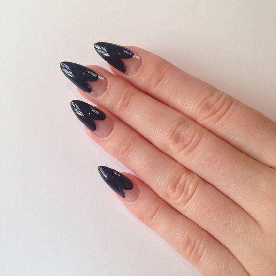 Heart Tip Press On Stiletto nails Nail by prettylittlepolish