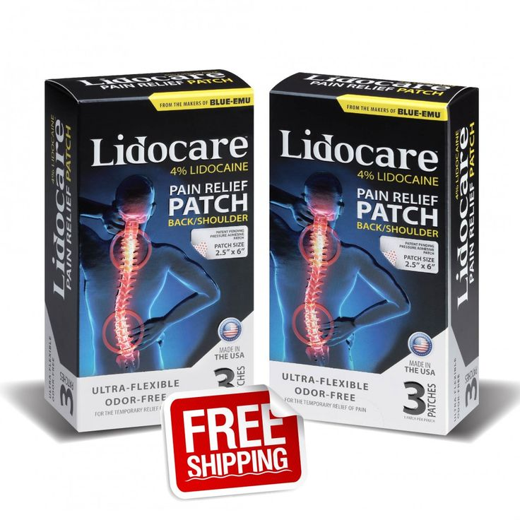 For a Limited time: Purchase (2) back and shoulders receive FREE SHIPPING Lidocare is the newest over-the-counter/non-prescription pain patch that delivers Lidocaine through the localized delivery of 4% Lidocaine. Lidocare is the ONLY water-free lidocaine patch available. Lidocare can provide up to 8 hours of pain relief from aggravated nerves and block the pain at the site.
