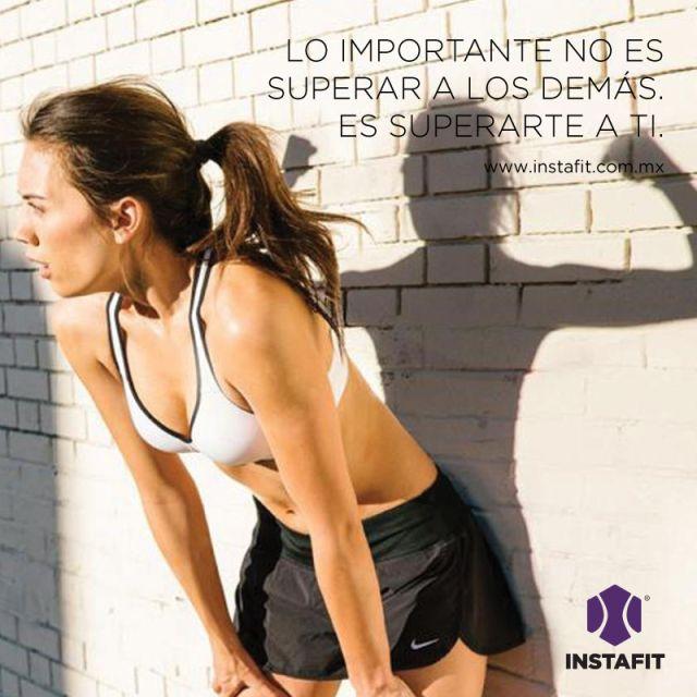 Lo importante no es superar a los demás, es superarte a ti. #Fitnessquote #Motivacion