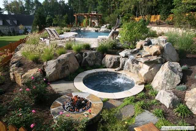 Waterfall Landscaping Pictures In New Jersey Secluded