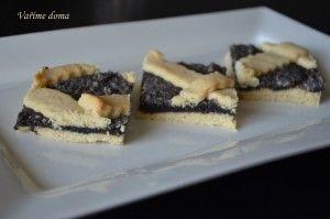 makový mřížkový koláč