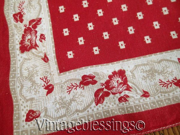 Early One Antique 19th C Western Cowboy Bandana